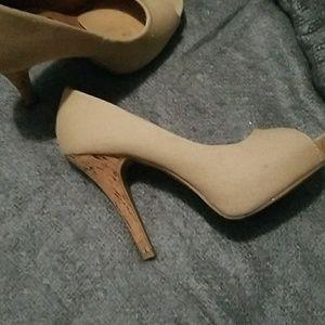 Rue 21 linen cork heels 6